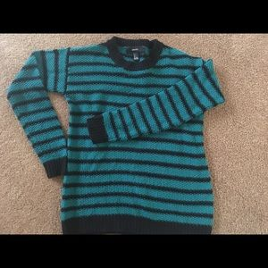 Green and black stripped Forever21  Cute sweater